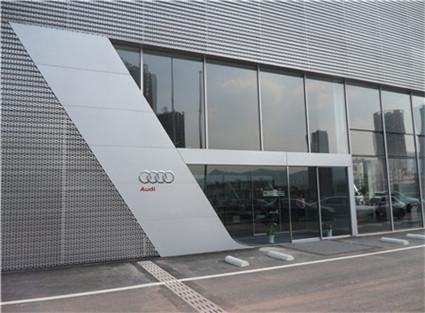 奥迪汽车4S店自动平开门安装